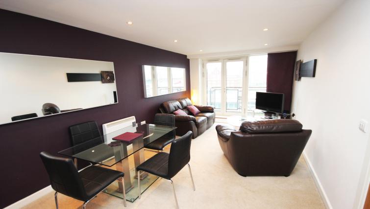 Living area at City Quadrant Apartments - Citybase Apartments