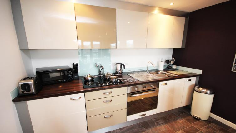 Equipped kitchen at City Quadrant Apartments - Citybase Apartments