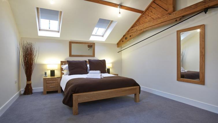 Double bed at Old British School Apartments - Citybase Apartments