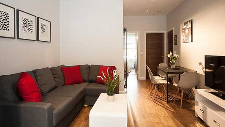 Living area at Brook Green Apartments - Citybase Apartments