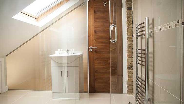 Shower room at Brook Green Apartments - Citybase Apartments