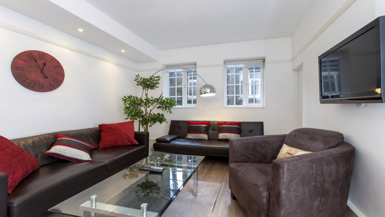 Furnished living area at Liverpool Street Apartments - Citybase Apartments