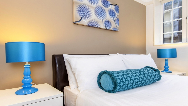 Bedroom area at Liverpool Street Apartments - Citybase Apartments