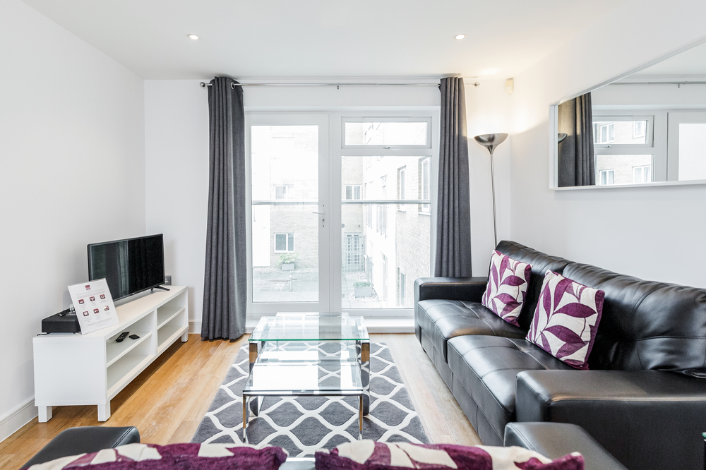 Living area at Abbots Yard Apartments, Centre, Guildford - Citybase Apartments