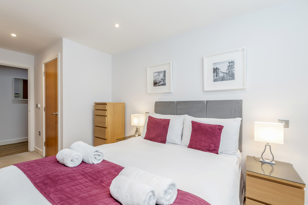 Bedroom at Abbots Yard Apartments, Centre, Guildford - Citybase Apartments
