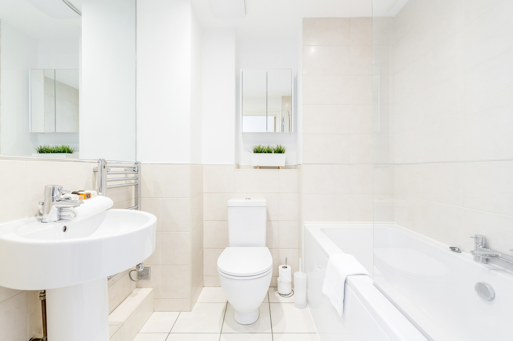 Bathroom at Abbots Yard Apartments, Centre, Guildford - Citybase Apartments
