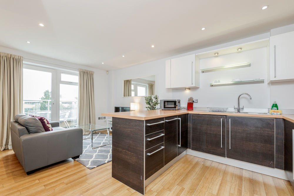 Kitchen at Abbots Yard Apartments, Centre, Guildford - Citybase Apartments
