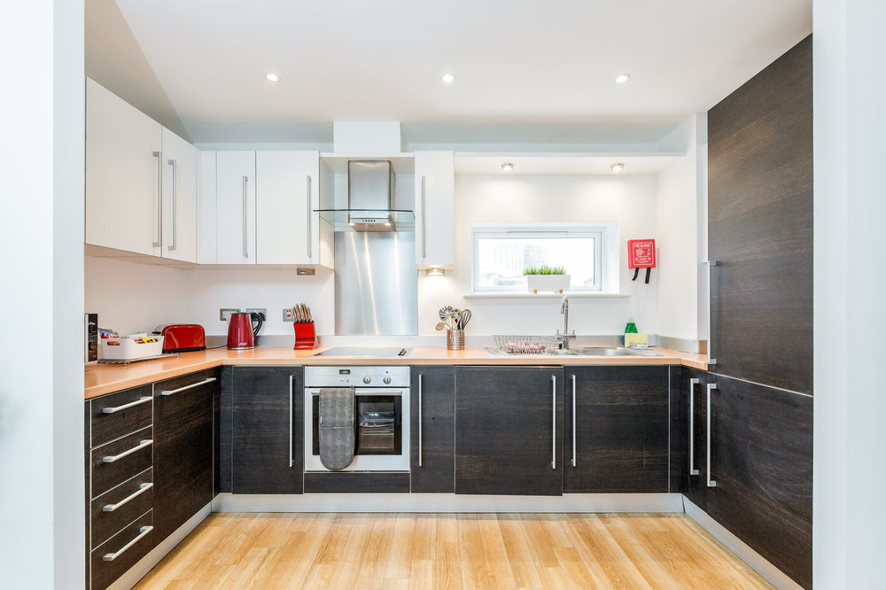 Fully equipped kitchen at Abbots Yard Apartments, Centre, Guildford - Citybase Apartments