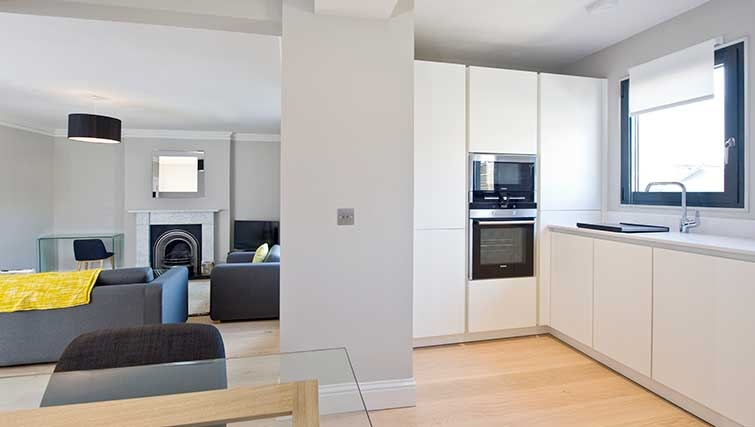 Open-plan living area at Hill Street Apartments - Citybase Apartments