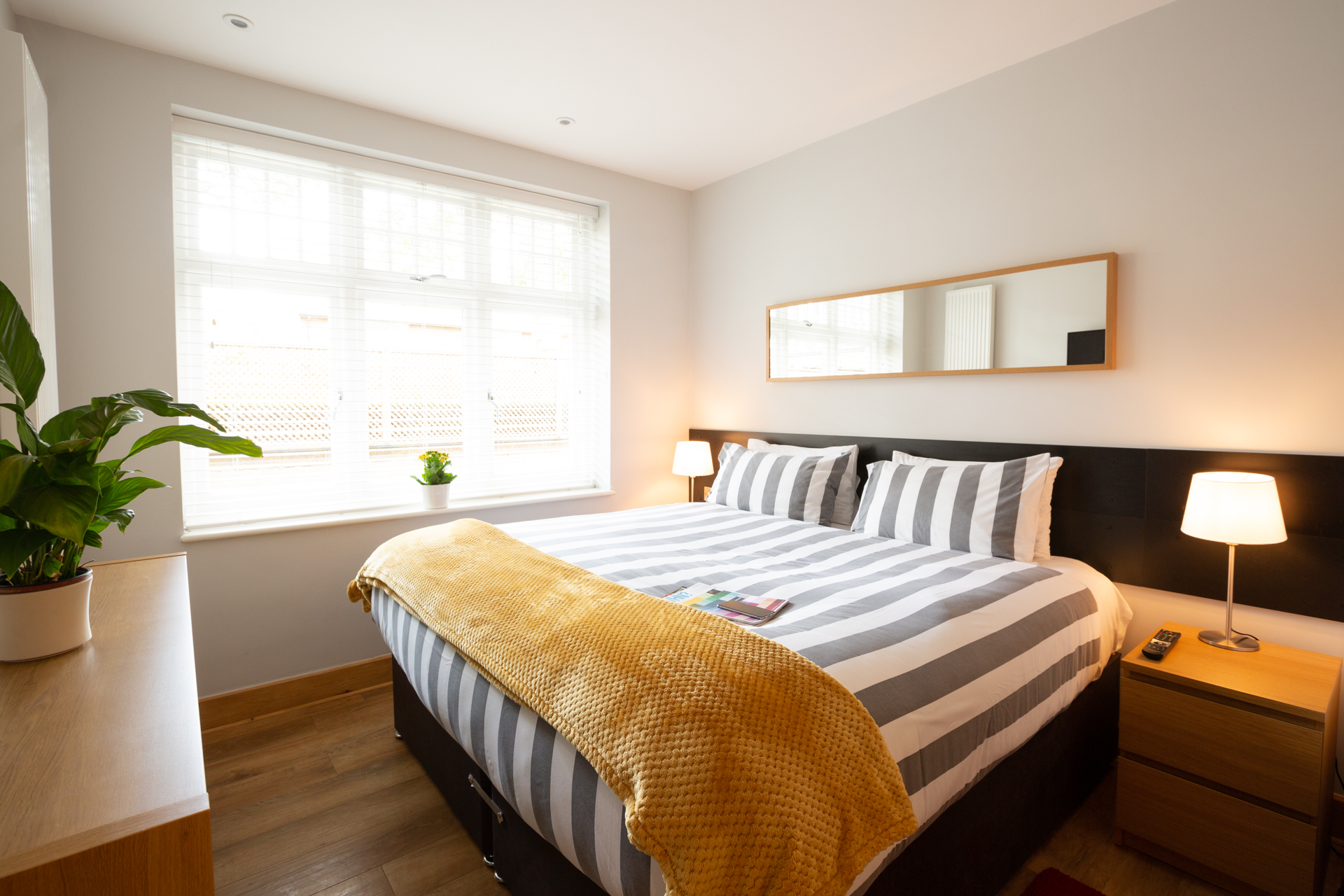 Modern bedroom at Alban House Apartments - Citybase Apartments