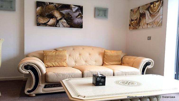 Sofa at South Quay Apartments - Citybase Apartments