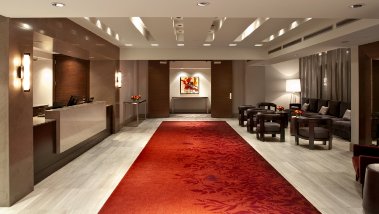 Lobby area at Level Furnished Living - Citybase Apartments