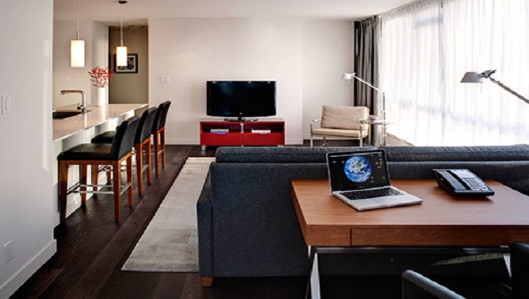 Homely living area in Level Furnished Living - Citybase Apartments