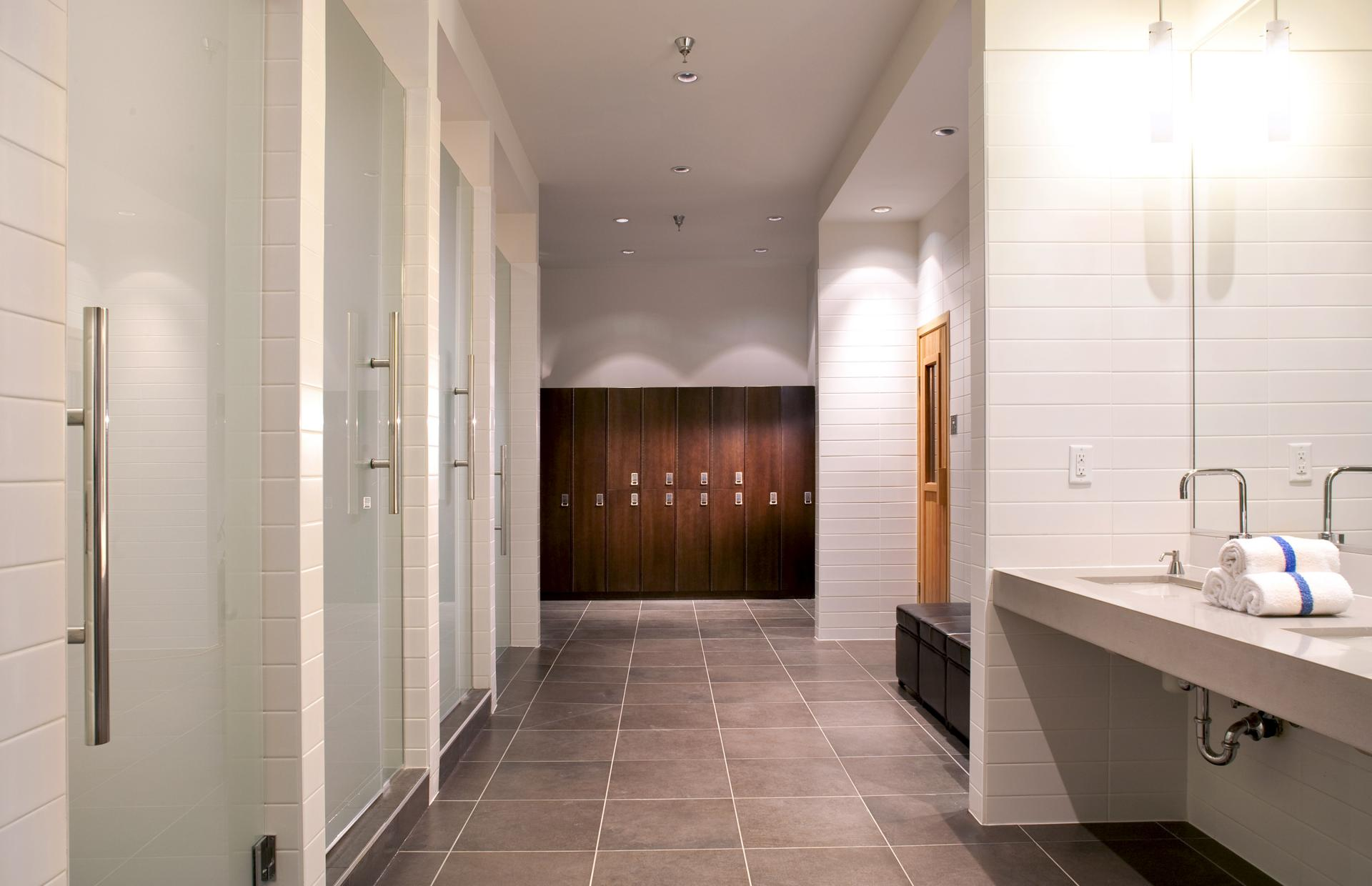 Shower rooms at Level Furnished Living - Citybase Apartments