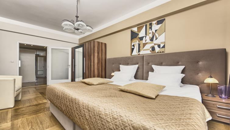 Large bedroom at Ostrovni 7 Apartments - Citybase Apartments