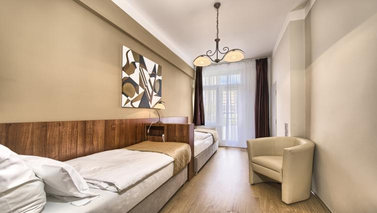 Beds at Ostrovni 7 Apartments - Citybase Apartments