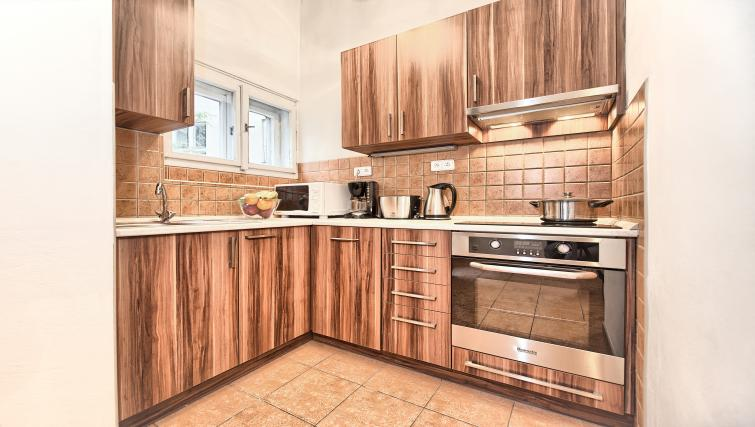 Fully equipped kitchen at Ostrovni 7 Apartments - Citybase Apartments