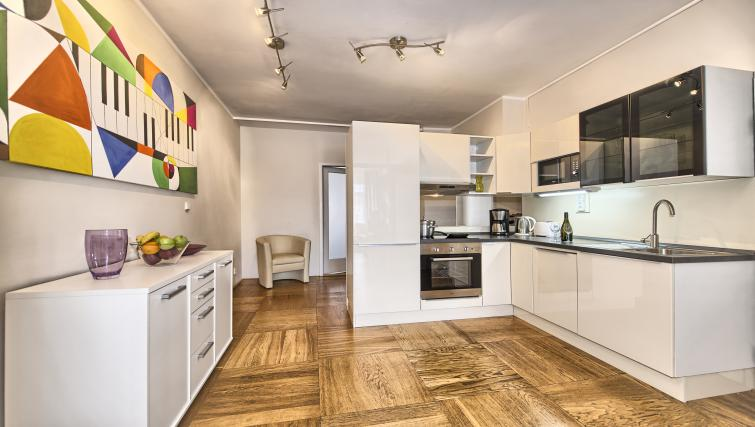 Equipped kitchen at Ostrovni 7 Apartments - Citybase Apartments