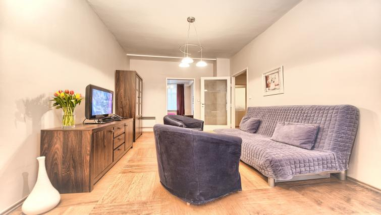 Cosy living area at Ostrovni 7 Apartments - Citybase Apartments