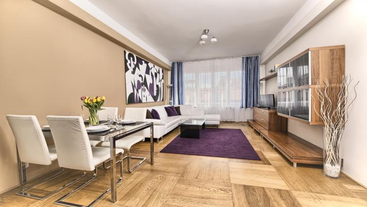 Living space at Ostrovni 7 Apartments - Citybase Apartments