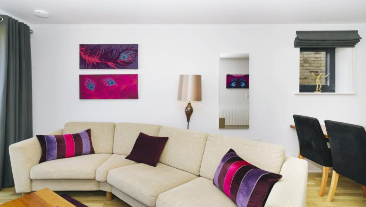 Living room at Eden House Apartments - Citybase Apartments