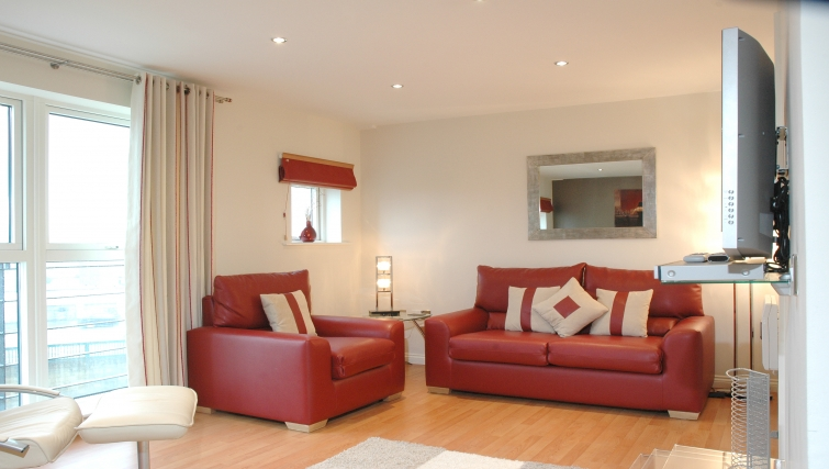 Fantastic living area in Curzon Places - Citybase Apartments