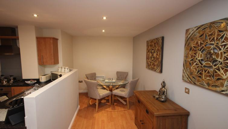 Dining area at Curzon Place - Citybase Apartments