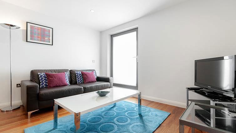 Living area at Chorus Apartment - Citybase Apartments