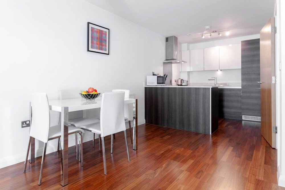 Dining area at Chorus Apartment - Citybase Apartments