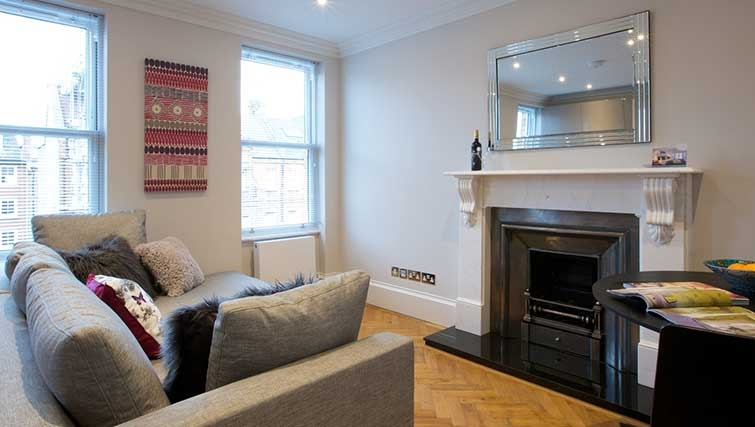 Living area at Flying Butler Ongar Road Apartments - Citybase Apartments