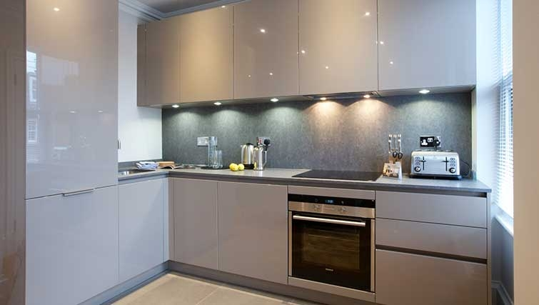 Kitchen at Flying Butler Ongar Road Apartments - Citybase Apartments