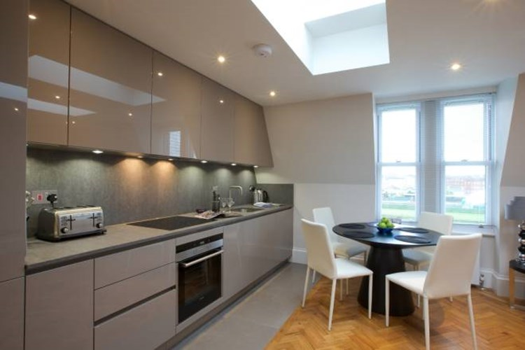 Kitchen at Flying Butler Barons Court Apartments - Citybase Apartments