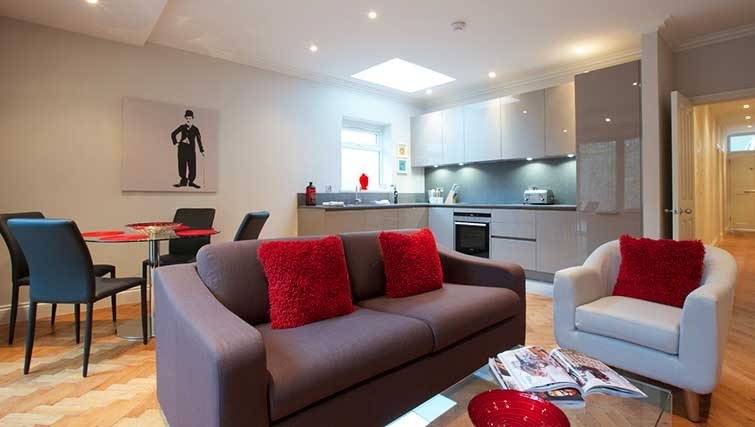 Living area at Flying Butler Hammersmith Apartments - Citybase Apartments