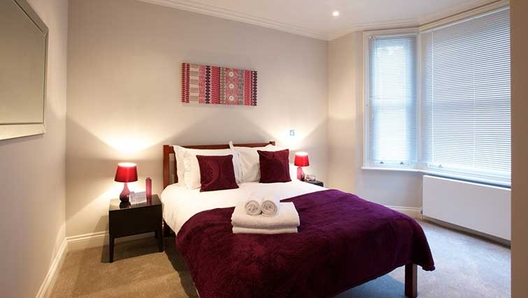 Double bedroom at Flying Butler Hammersmith Apartments - Citybase Apartments