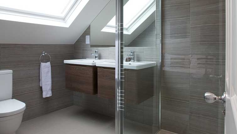 Shower room at Flying Butler Hammersmith Apartments - Citybase Apartments