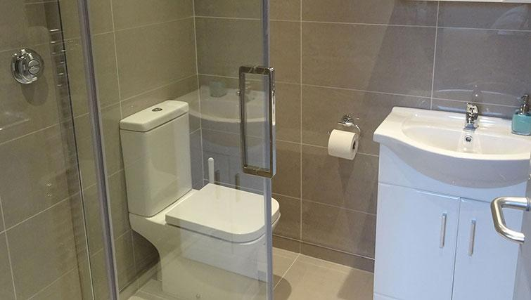Shower at Flying Butler Hammersmith Apartments - Citybase Apartments