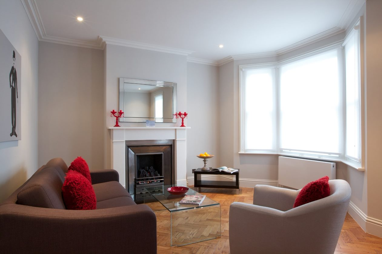 Lounge at Flying Butler Hammersmith Apartments, Hammersmith, London - Citybase Apartments