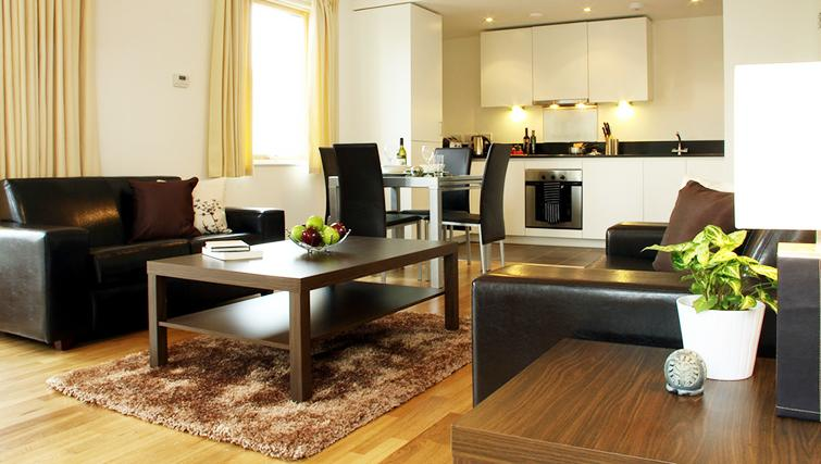 Living area at Phoenix Heights Apartments - Citybase Apartments