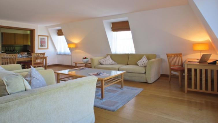 Living area at The Kings Wardrobe Apartments - Citybase Apartments