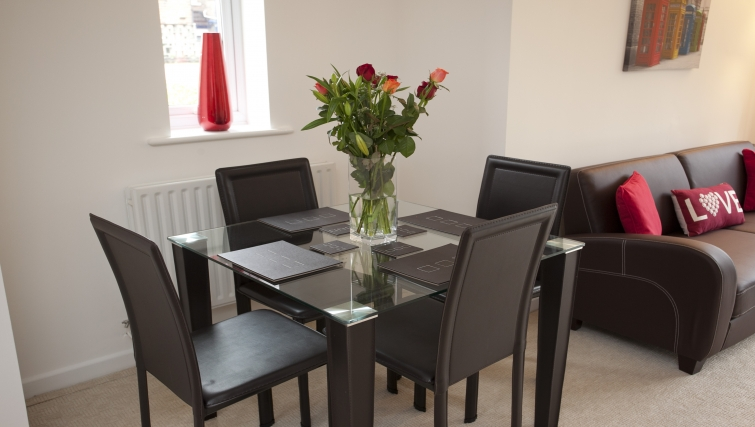 Dining area at Cricket Heaven Apartment - Citybase Apartments