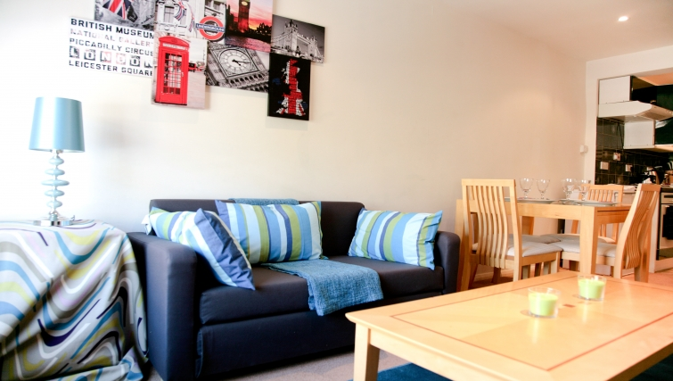 Living/dining area at Marylebone Apartments - Citybase Apartments