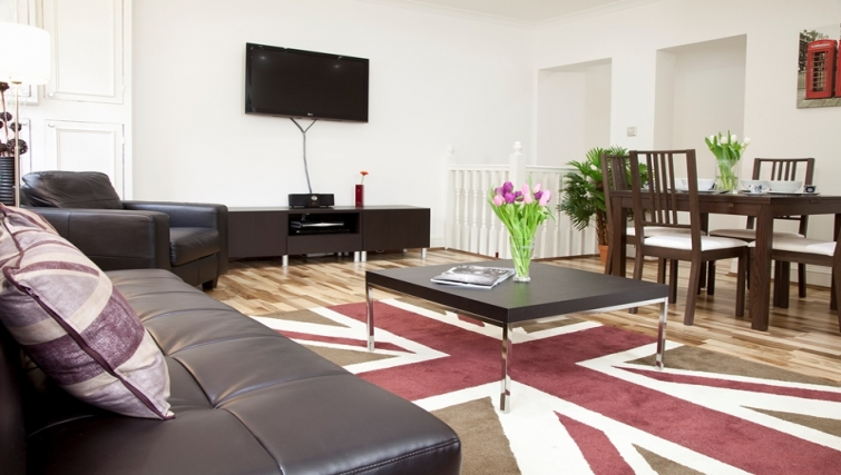 Living area at Marylebone Apartments - Citybase Apartments
