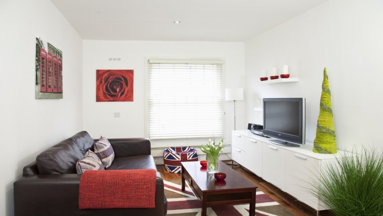 Modern living area at Marylebone Apartments - Citybase Apartments