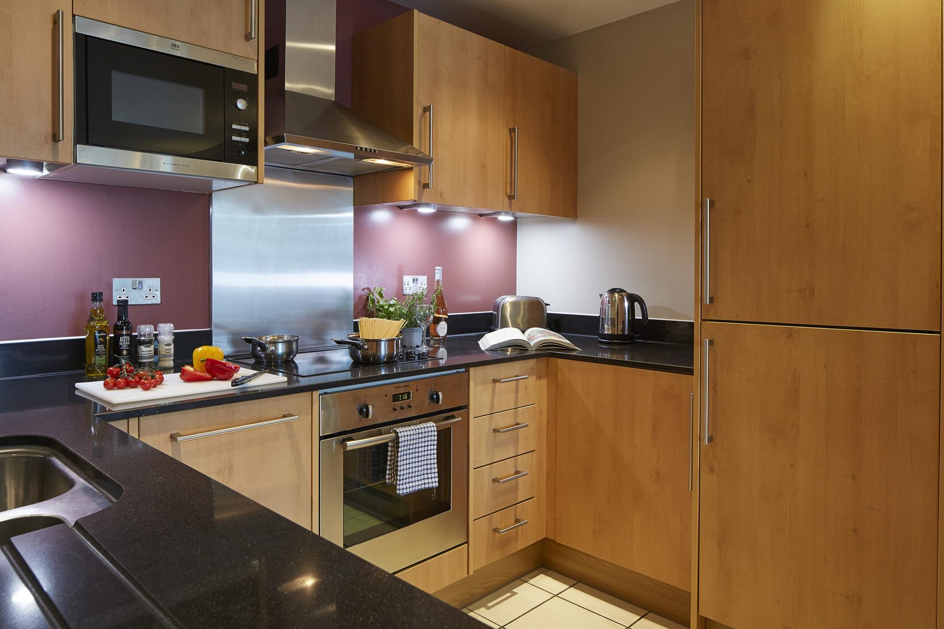 Kitchen at Empire Square Apartments, London Bridge, London - Citybase Apartments
