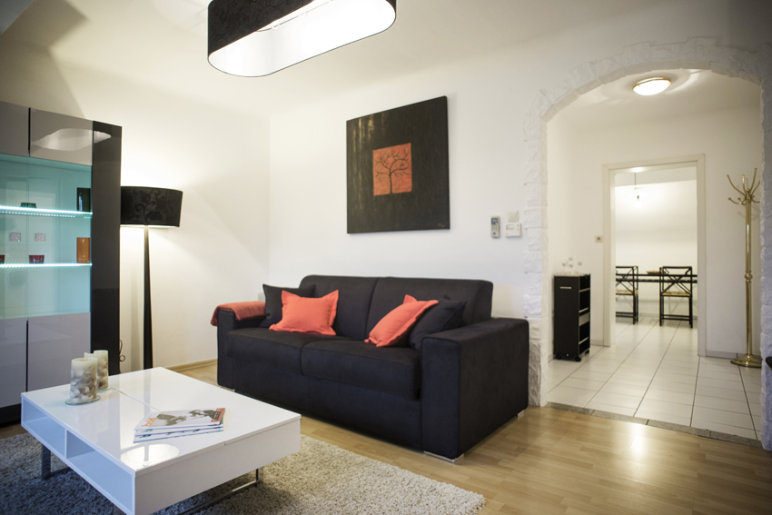 Spacious living area at Villa Medici Apartments - Citybase Apartments