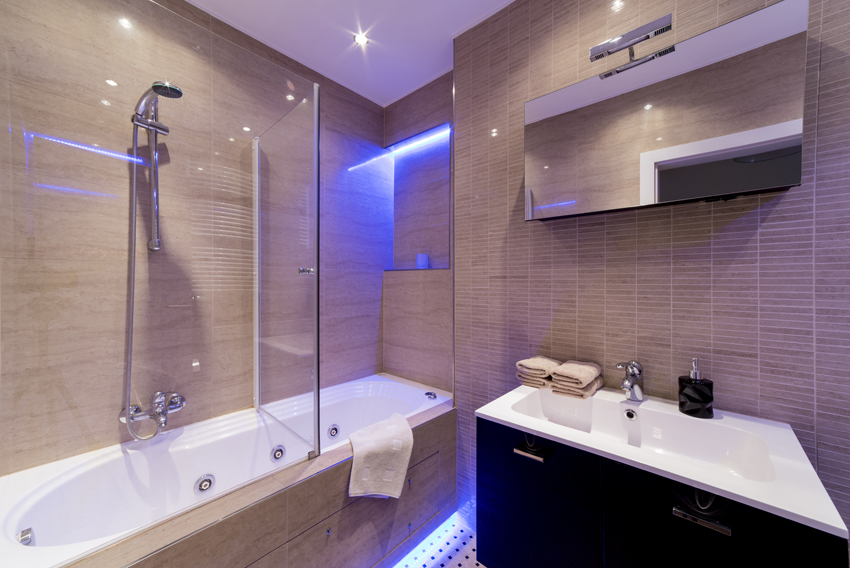 Modern bathroom at Villa Medici Apartments - Citybase Apartments