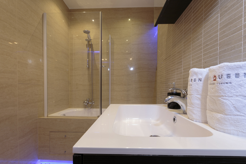 Shower at Villa Medici Apartments - Citybase Apartments