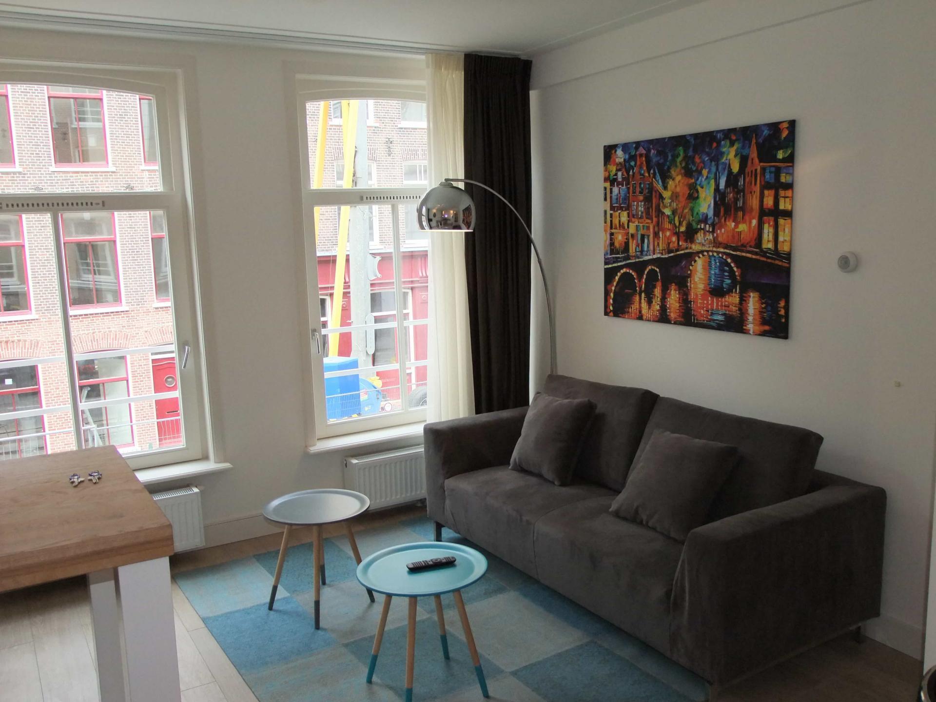 Sofa at Rijksmuseum Apartments, Amsterdam - Cityden - Citybase Apartments