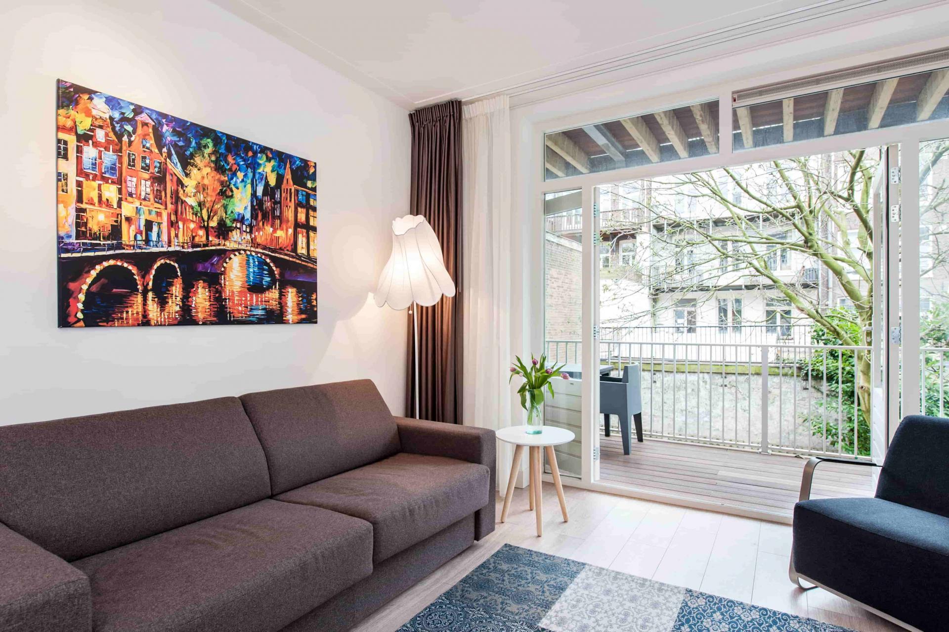 Living space at Rijksmuseum Apartments, Amsterdam - Cityden - Citybase Apartments
