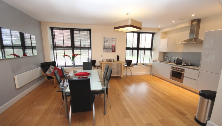 Serene dining area in Lime Square Apartments - Citybase Apartments